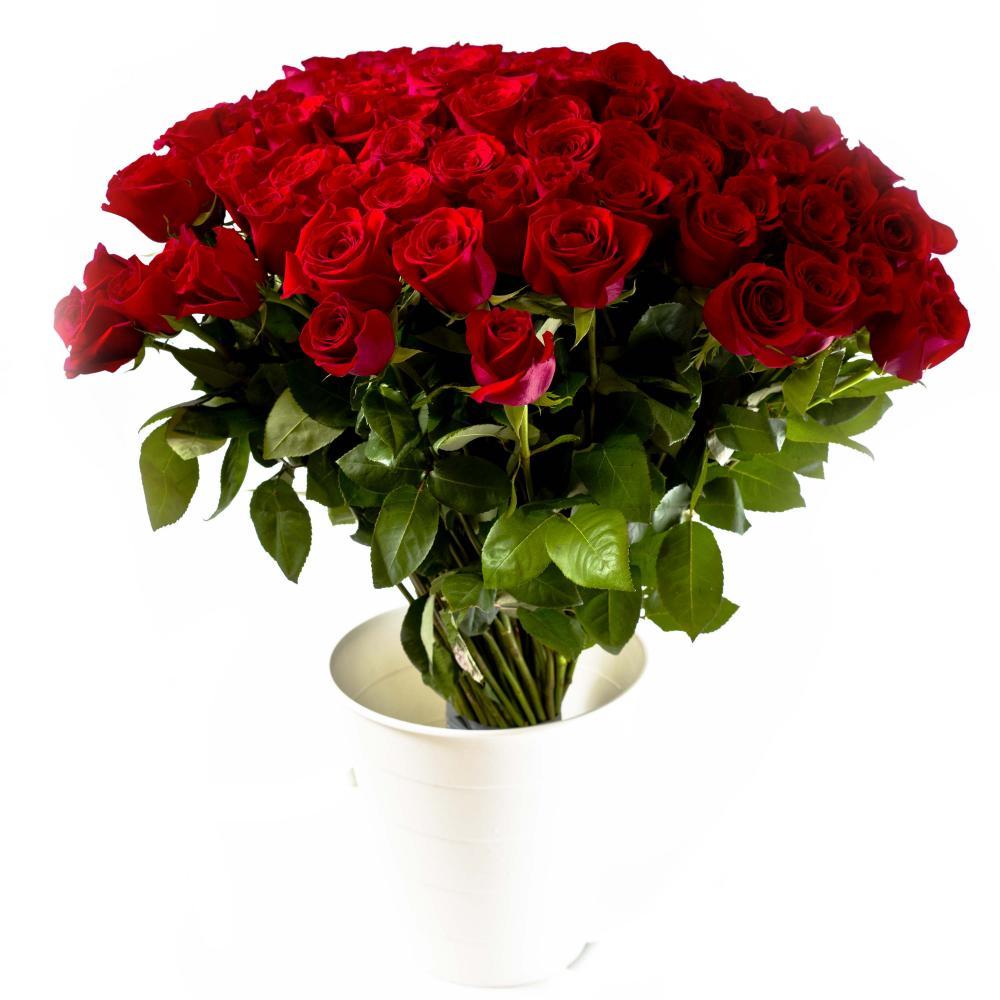 101 красная роза 60 см производство Эквадор
